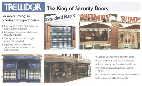 Trellidor The king of Security Doors