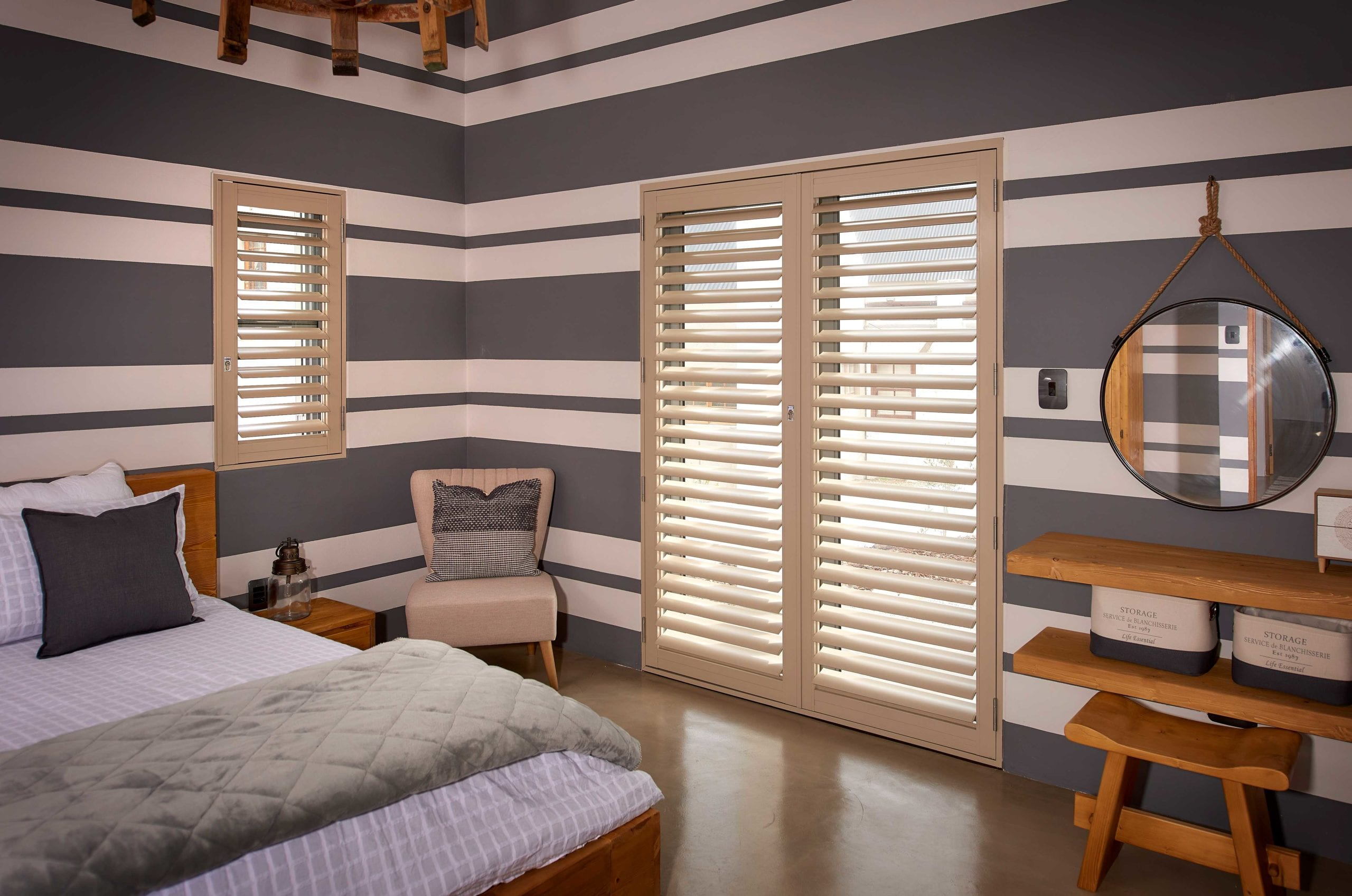 Security Shutters for Bedroom