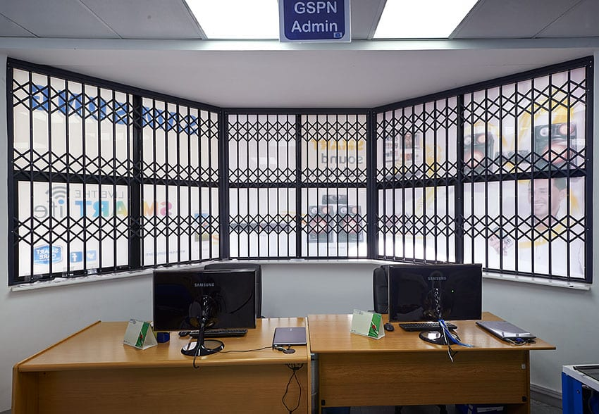 an image of a secured office