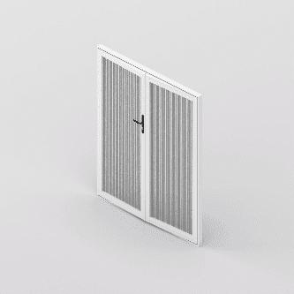 Clear Guard Door 2 Panel Bifold