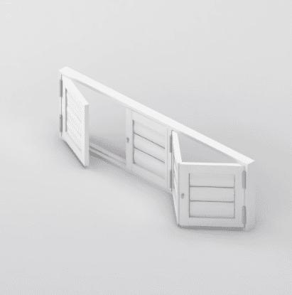 Security Shutter BiFold 4 panels Door