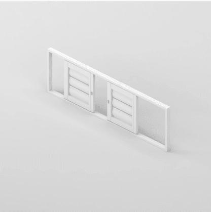 Security Shutter Double Slider Door