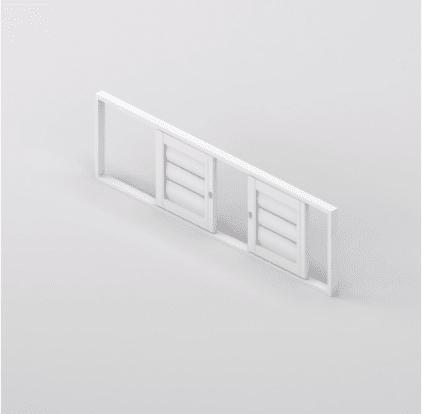 Security Shutter Double Slider Window