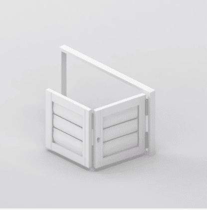 Security Shutter Floating BiFold 2 Panels Window