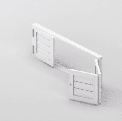 Security Shutter Floating BiFold 3 panels Door