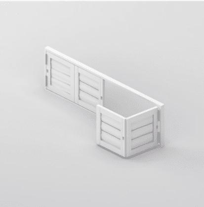 Security Shutter Floating BiFold 4 Panels Window