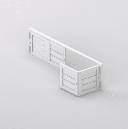 Security Shutter Floating BiFold 4 panels Door