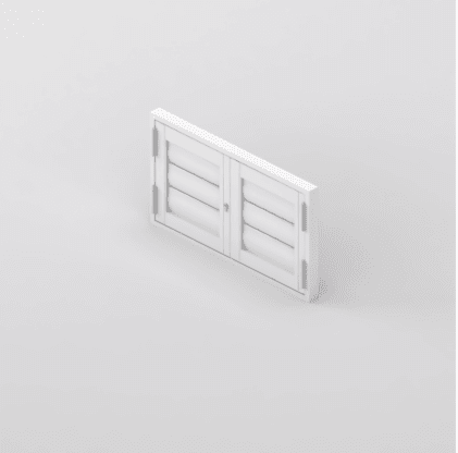 Security Shutter French Unit 4 sides Window