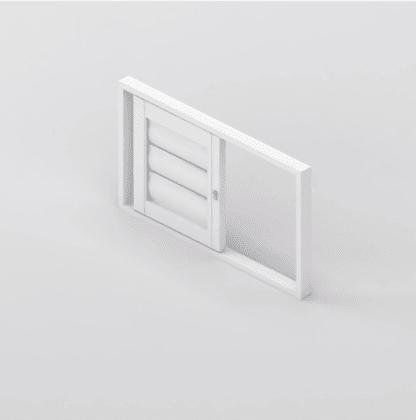 Security Shutter Single Slider Window